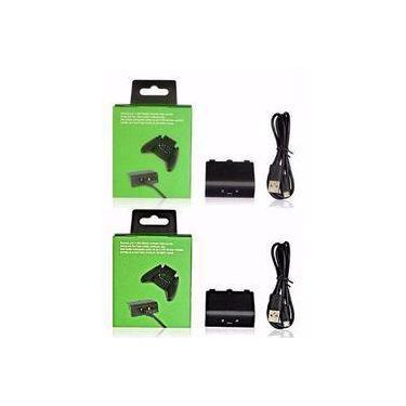 Kit Com 2 Baterias Carregador Usb Para Controle Xbox One