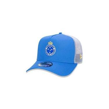 Bone 9Forty A-Frame Trucker Cruzeiro Aba Reta Azul/Branco New Era