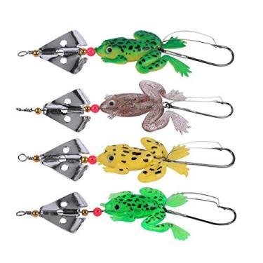 4 Iscas Artificiais Frog Buzzbait Pesca Esportiva Traíra Dourado Black Bass Tucunaré Promoção Barato Oferta