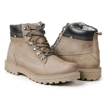 Bota Masculina Polo State em Couro Worker Edition Bege  masculino