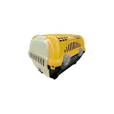 Caixa de Transporte Luxo Furacão Pet Amarelo - Nº3