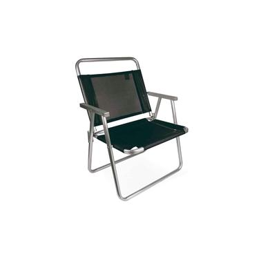 Cadeira de Praia Oversize Alumínio Preta Mor