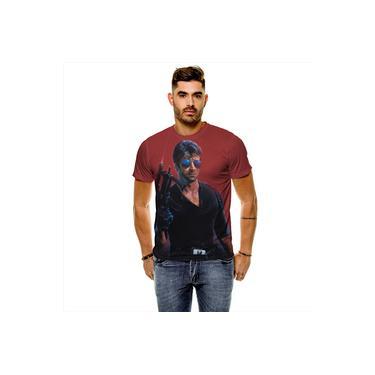 Camiseta Filme Clássico Cobra Marion Cobretti Masculina Slim