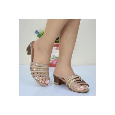 Tamanco Mouser Shoes Verniz Areia Feminino St28255