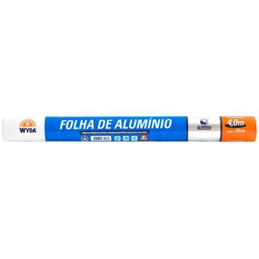 Papel Alumínio 4mx45cm Wyda 1016396