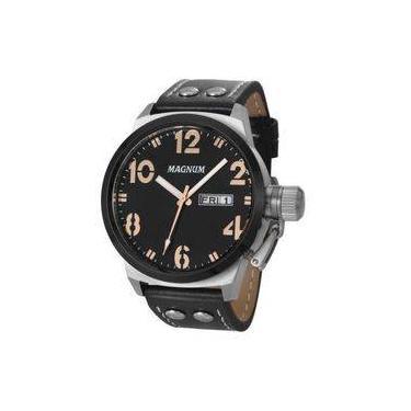 3da39bd5883 Relógio Magnum Ma32783t Calendario Pulseira Couro