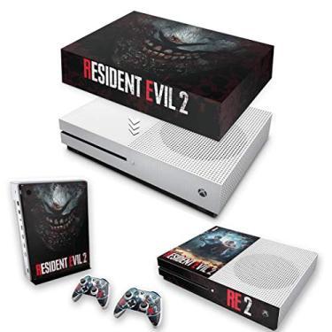 Capa Anti Poeira e Skin para Xbox One S Slim - Resident Evil 2 Remake