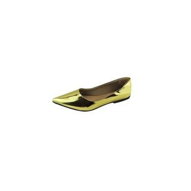 Sapatilha Bico Fino Specchio - Ouro