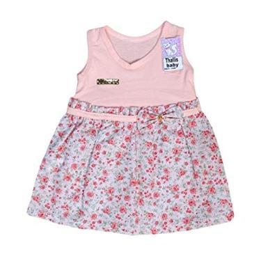 Vestido Feminino Rn Tamanho:0-6 meses;Cor:Salmão