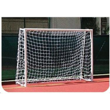 Par de Rede de Futsal Oficial Fio 6 Reforçado na cor Branca - Master