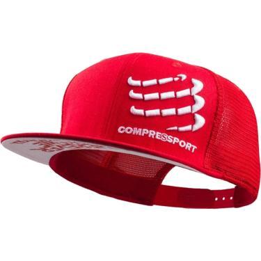 BONÉ TRUCKER CAP - COMPRESSPORT - VERMELHO