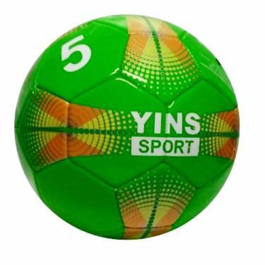 Bola de Futebol Campo Couro Sintético n.5 Verde Yins c030726e54cc4
