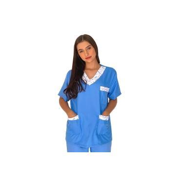 Camisa Pijama Cirúrgico Azul Det Odontologia