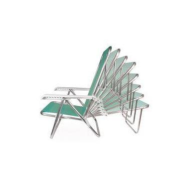 Cadeira de Praia Anis Reclinável em Alumínio com 8 Posições e Tela Sannet - Mor