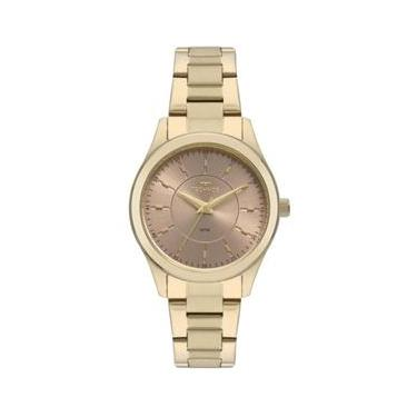 7b01d150af0 Relógio Technos Feminino Ref  2035mns 4j Social Dourado