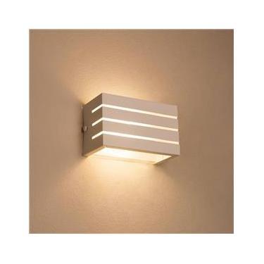 Arandela Frisada Luminária  Para Muro Parede Externa