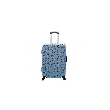 Capa de Mala Proteção Viagem Média Elastano Sereia azul - Yins
