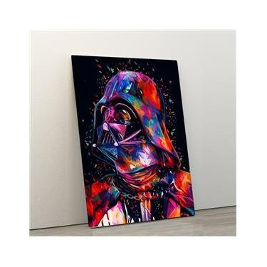 Quadro Decorativo Star wars darth vader 40x60 em Tecido Canvas