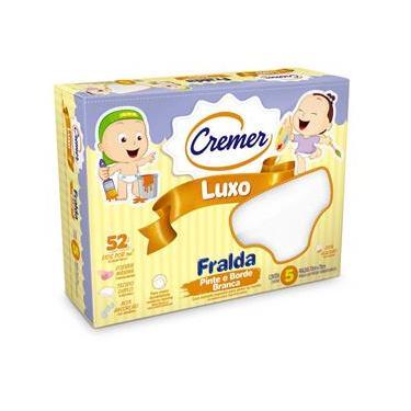 Fralda De Pano Luxo Pinte E Borde - Cremer 70X70Cm Caixa C/ 5 Unidades ? 376005