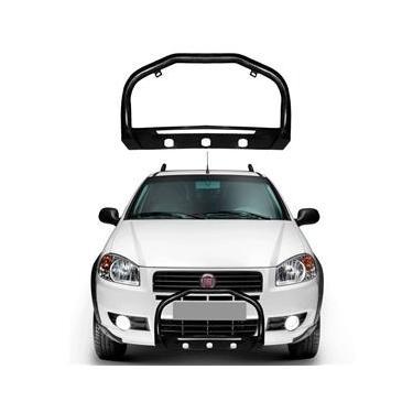 Para-Choque de Impulsão Fiat Strada 2014 a 2018 Com Protetor Preto