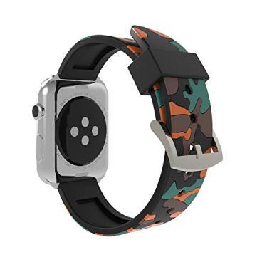 Pulseira Estilo Camuflagem Para Apple Watch 44mm 42mm Series 1/2/3/4