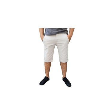 Bermudas Gelo Sarja Masculina Slim Com Lycra