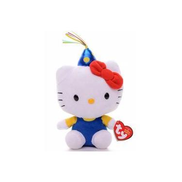 Imagem de Pelúcia Beanie Babies Ty Hello Kitty Classica Original Dtc