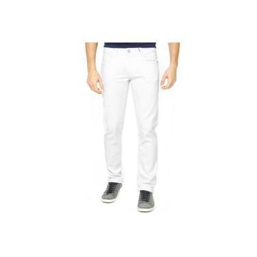 Calça Jeans Branca Masculina Sarja C Lycra Até Nº 66 plus size