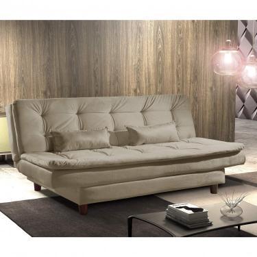 Sofa Cama 3 Lugares Premium REF 07 Luxury Estofados Bege