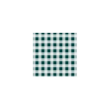 Imagem de Toalha De Mesa Descartável Xadrez Verde Escuro 10 Unidades Plaspet