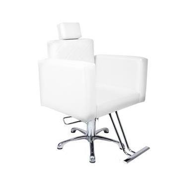 Poltrona Cadeira Hidráulica Evidence Fixa Para Salão Branco