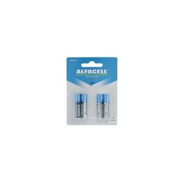 Jogo de pilhas alcalina palito Alfacell AAA 1.5V 4 peças