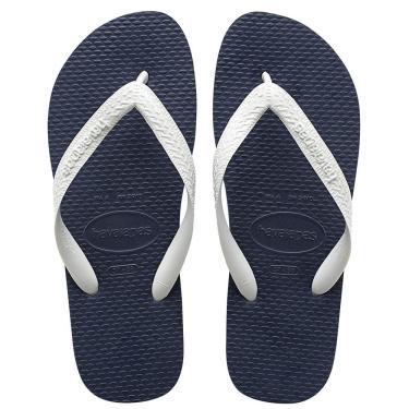 53aa51f72 Sandália Havaianas 6 Pares Color Mix Azul Escuro e Branco 39 40