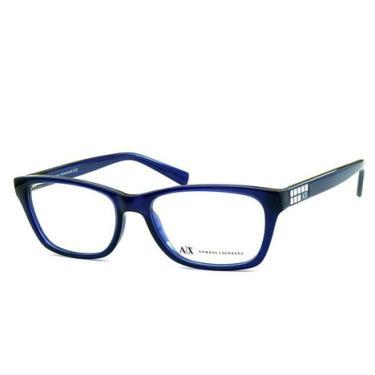 Óculos de Grau Armani Exchange AX3006L 8139 52 Azul Marinho Transparente a7651e04fd