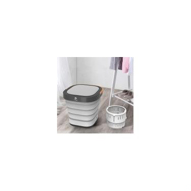 Imagem de Máquina de lavar elétrica portátil dobrável Mini máquina de lavar roupa automática Máquina de lavar roupa interior Máquina de lavar e secar roupa Serafinee