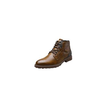 Imagem de Botas masculinas com zíper lateral de cano alto retrô fashion bota externa para deserto