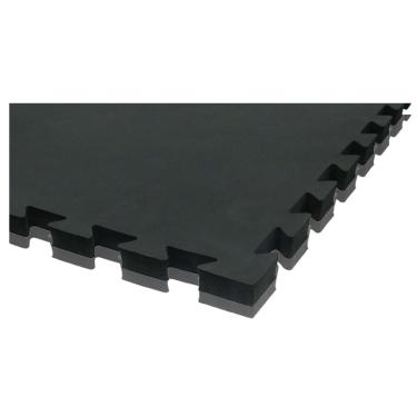 Placa Tatame Eva Encaixe 1x1MT 20mm Rythmoon - preto/cinza escuro
