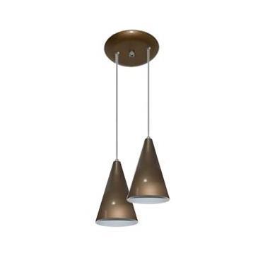 Luminária Pendente Colorido Duplo para Sala Quarto Cozinha - Ouro Velho