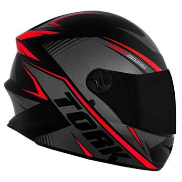 Capacete Pro Tork Moto Fechado R8 Vermelho Viseira Fumê