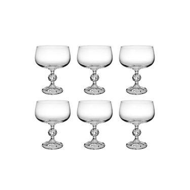 Jogo 6 Taças De Cristal Para Sobremesa Klaudie Bohemia