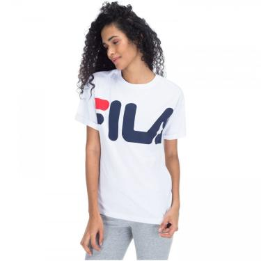 Camiseta Fila Fine Letter - Feminina Fila Feminino