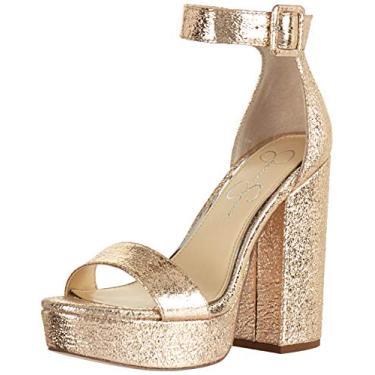 Jessica Simpson CAIYA sandália feminina de salto, Platino, 10