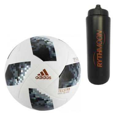 e5d2d4e477 Kit Bola Futebol Campo World Cup Russia 2018 Top Glider Adidas + Squeeze  Automático 1lt