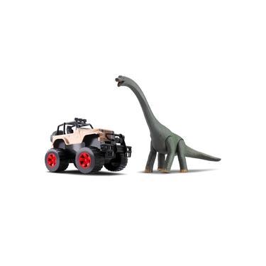 Imagem de Carrinho Jipe Com Dinossauro Braquiossauro - Silmar Brinquedos