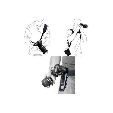 Imagem de KIT Alça De Ombro Dupla + Alça De Ombro Simples Quick Strap Correia + Cinto B-GRIP Para Câmera Canon Eos Rebel T6i