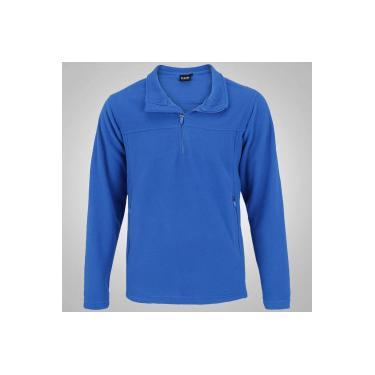 Blusa de Frio Fleece Nord Outdoor Basic - Masculina - AZUL Nord Outdoor e0a4d3fa899