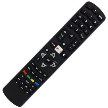 Controle Remoto TV LED Toshiba CT-8505 / 32L2600 / 40L2600 Teclas Netflix Youtube