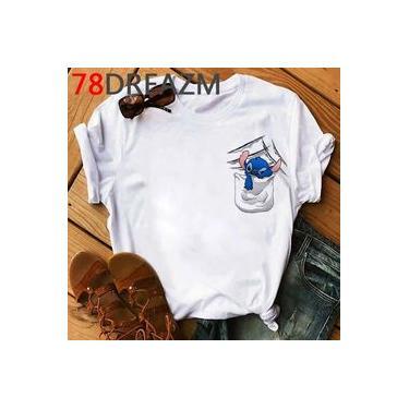 Blusa Camiseta Feminina Tumblr Swag Lilo E Stitch No Bolso