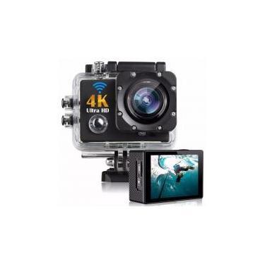 Câmera Sport Action Go Ultra 4k Full Hd Pro WiFi Prova dagua - Preto - Sports cam
