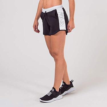Short Fila Sports Block Preto/Branco Feminino